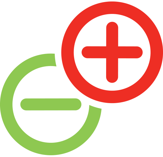 Golden Grove Electrical and Data Services - Golden Grove Electricians. Company logo icons only, green negative icon and red positive icon.